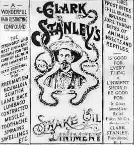 Snake oil advertisement